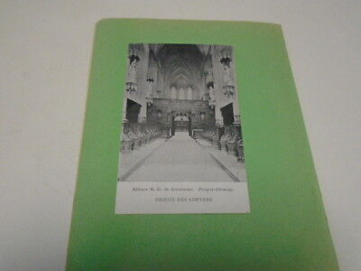 """Cp Ancienne  """" Forges -Chimay """" Abbaye N.-D. Scourmont  (  Choeur Des Convers )"""