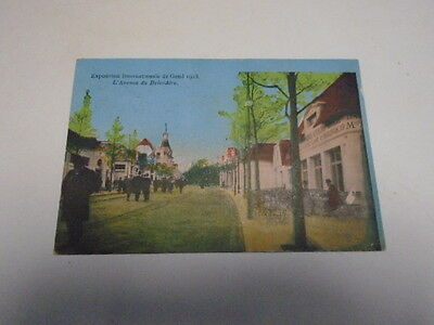 "Cp  Ancienne ""  Exposition  Internationale De  Gand 1913 "" Avenue  Belvedere"