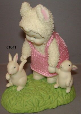 Dept 56 Snowbunnies - Baby Bunny's First Steps Easter Figurine - New In Box