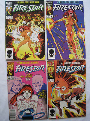FIRESTAR :COMPLETE 4 issue 1986 MARVEL SERIES by DeFALCO & WILSHIRE. NEW MUTANTS
