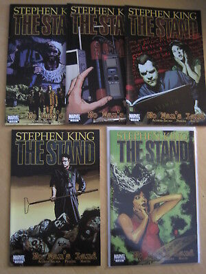 """STEPHEN KING : The STAND,  """"NO MAN'S LAND"""" complete 5 issue series. MARVEL.2011"""