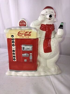 Coca-Cola COKE MACHINE & POLAR BEAR Cookie Jar by Houston Harvest