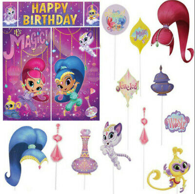 SHIMMER SHINE Scene Setter HAPPY BIRTHDAY Party Decor 12 Photo Booth Props
