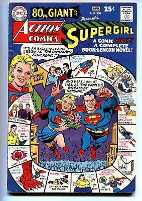 ACTION COMICS #360 comic book DC SUPERGIRL 1968 80 PG GIANT #45 FN