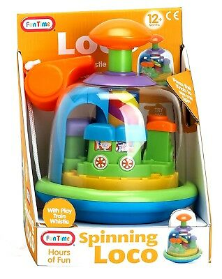 Spinning Loco TRAIN Merry Go Round & Whistle Baby Toddler and Toy 12 Months +