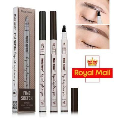 2018 Long Lasting Eyebrow Tattoo Pen Fork Tip Patented Microblading Ink Sketch