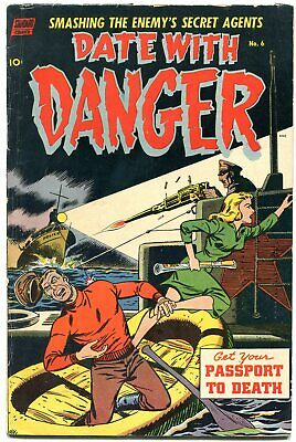 Date With Danger #6 1953- Empire State Building Atomic Bomb G+