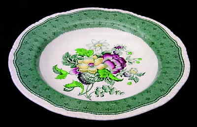Ridgway PLYMOUTH GREEN Rimmed Soup Bowl 611564