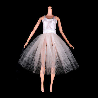 Handmade Royalty Doll Ballet Dress For Barbie Doll Clothes Party Gown Gift JR