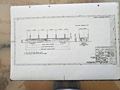 SAR  Railways - Diagram BOOGIE  FLAT WAGON   Blueprints - POSTAGE $2.50