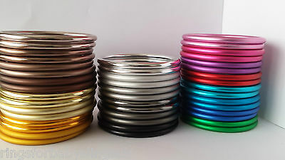 SGS Certified Aluminium Rings For Baby Slings 3 Sizes Shiny and Matte 26 Colours