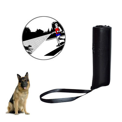 LED Ultrasonic Aggressive Dog Repeller Training Aid Stop Anti Barking Device AJU