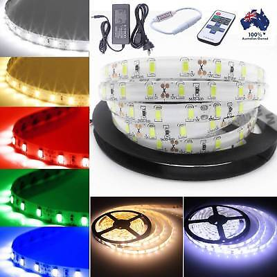 1M-20M SMD 5630 Waterproof 300 LED Strip Flexible Ribbon light Lighting 12V 60W