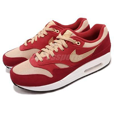 hot sale online 678b1 74f80 atmos X Nike Air Max 1 Premium Retro Red Curry Pack Men Running Shoes 908366 -