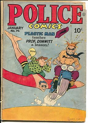 Police #74 1948-Quality-Plastic man-Spirit-Candy-Jack Cole cover-G/VG