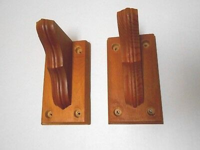 """2 Small Solid Wood Traditional Shelf Brackets Supports 3 1/4"""" x 6"""" x 3 3/4"""""""
