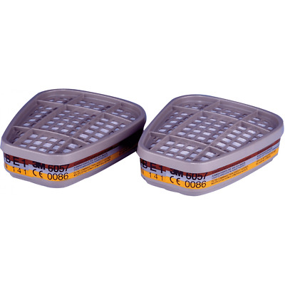 Pair of 3M 6057 Cartridges / Filters ABE1 Protection