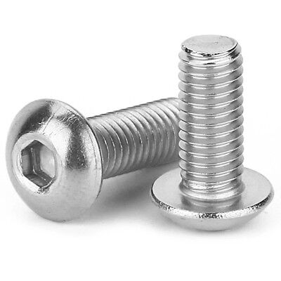 BUTTON HEAD SCREWS M3 M4 M5 M6 M8 M10 M12 Stainless Steel A2 Allen Socket Bolts