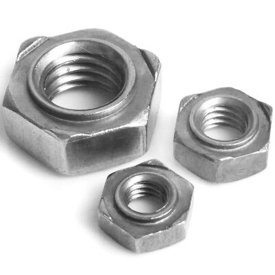 SMALL - LARGE M5 M6 M8 M10 HEX WELD NUTS Stainless Steel A2 Screw/Bolt Fixings