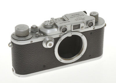 "Ernst Leitz body Leica IIIA chrome #266272 1937 exc++, ""works"""