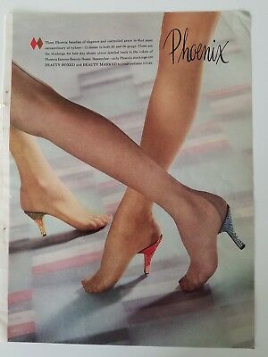 1953 womens Phoenix Hosiery stockings legs Beauty boxed and marked vintage ad