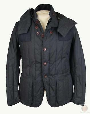 Barbour Dept B Dragh Jacket Navy Size Small
