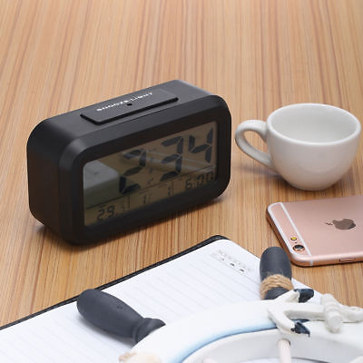 Projection Digital Time Calendar Weather Snooze Alarm Clock w/ LED Backlight