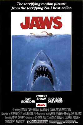 JAWS MOVIE POSTER, US Version (Size 24x36)