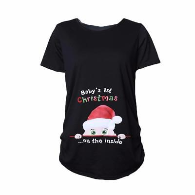 2018 Christmas T-shirts Maternity Tees Clothes Nursing Top Vest Pregnancy Shirts