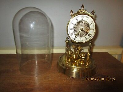 Vintage Hermle Anniversary clock. 8.5  in. tall Hermle Dome clock. For repair