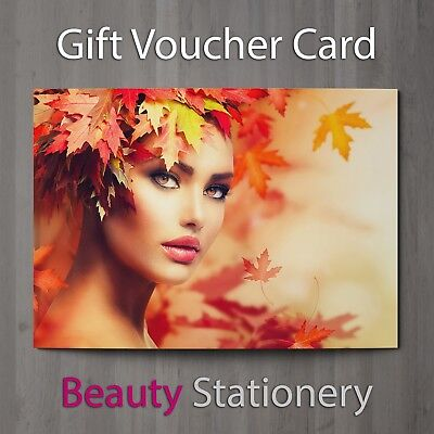 Gift Voucher Beauty Salon Blank Card Nails Facial Makeup Hairdresser A7 + Env.