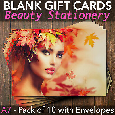 Gift Voucher Card Massage Beauty Nail Salons Hairdressers Spa x10 + Envelopes