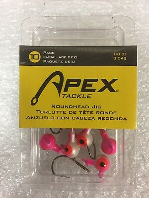 Apex 1//32oz Black Jig Heads 10 pack NIP