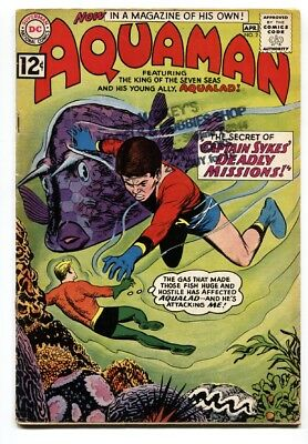 Aquaman #2 comic book 1962 DC comics-second issue