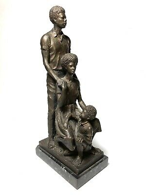 """Charles Cropper Parks Delaware African American Sculpture """"The Family""""1970"""