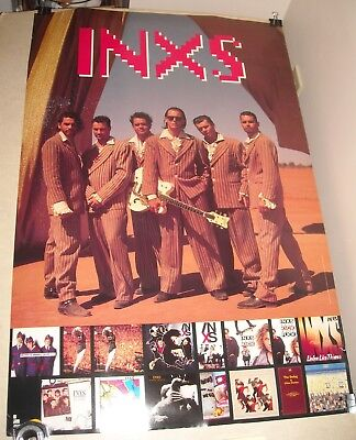 INXS - WELCOME to WHEREVER YOU ARE 2 SIDED PROMO ADVERTISING POSTER