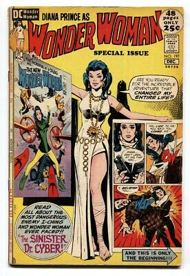 WONDER WOMAN #197 1971-giant issue-DC BRONZE AGE FN-