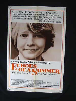 Echoes Of A Summer-1976-One Sheet-Fn-Drama-Jodie Foster-Lois Nettleton-Savage Fn