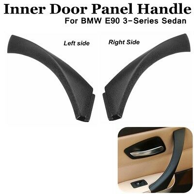 2x Inner Door Panel Handle Outer Pull Trim Cover For BMW 3-Series Sedan Black