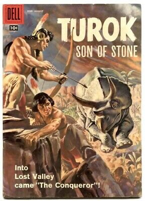 Turok Son Of Stone #12-Dell-1959-Dinsosaur Cover And Stories- Rare Fn/vf
