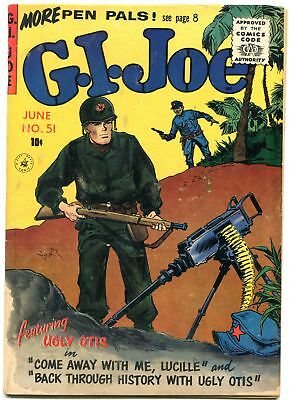 Gi Joe #51 1957-Machine Gun Cover-Ziff Davis-Last Issue Fn/vf