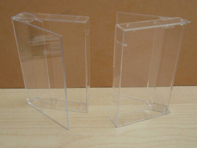 10  Audio cassette tape single clear cases - without pins