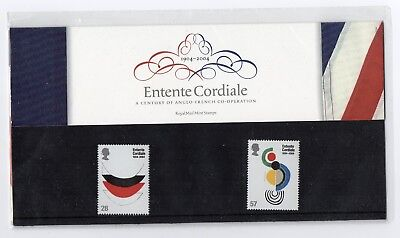 GB 2004 Entente Cordiale Presentation Pack. VGC. Stamps. Free postage!!
