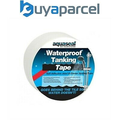 Everbuild Aquaseal Wet Room Kit Joint Corner Tape Waterproof Sealing Tanking 5M
