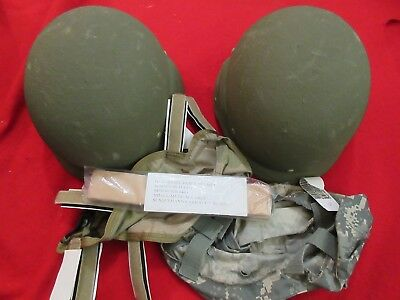 Pasgt Helmet Medium Reconditioned  One Helmet New Chin Strap New Webbing Cover