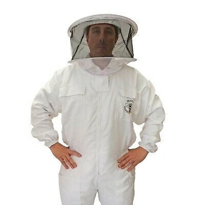 [UK] Buzz Work Wear Beekeeping White Round Veil Bee Suit- SELECT SIZE