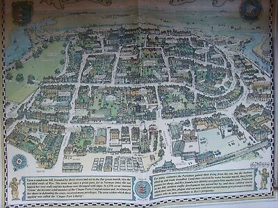 Rye Town - Cinque Port map -  - copy in colour