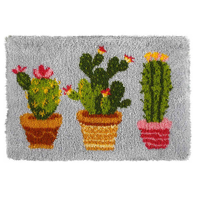 Orchidea Latch Hook Rug Kit - Cactus - Needlecraft Kits - FREE UK P&P