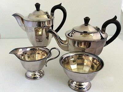 Vintage EPNS Silver Plated Coffee & Tea Set 4 piece Sheffield England
