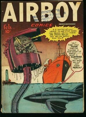 AIRBOY COMICS V.5 #1-GREAT COVER-L@@k! VG